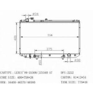 Chłodnica wody Lexus GS300 GS400 97-04 2JZ 1UZ
