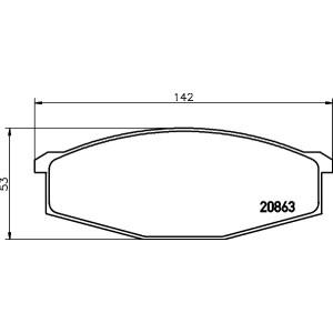 Klocki hamulcowe przód Nissan Patrol Y60 GR 2.8TD 4.2D RD28 TD42