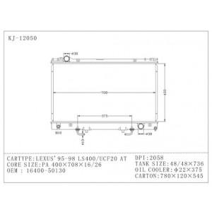 Chłodnica wody Lexus LS400 94-00 1UZ