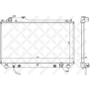 Chłodnica wody Lexus LS430 00-06 3UZ