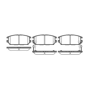 Klocki tył Mitsubishi Eclipse, Galant, Pajero Pinin 4G63